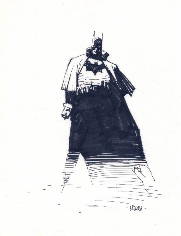 Mignola Gotham By Gaslight Batman Sketch In Andy Robbins S Mignola Comic Art Gallery Room