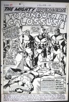 AVENGERS 37, page 1 title splash by Don Heck Comic Art