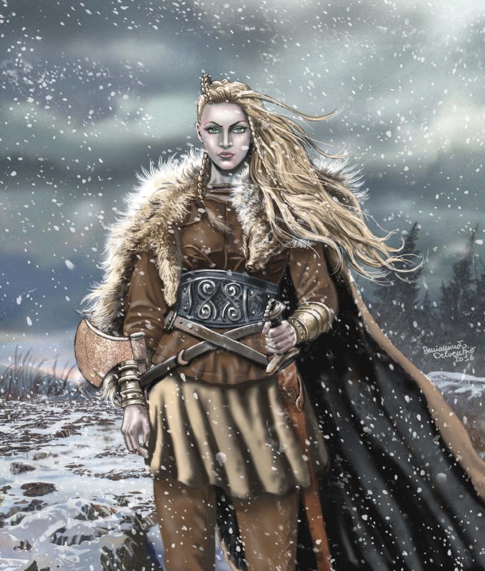 Viking Warrior Girl In Beniamino Delvecchio S Illustrazioni Comic Art Gallery Room