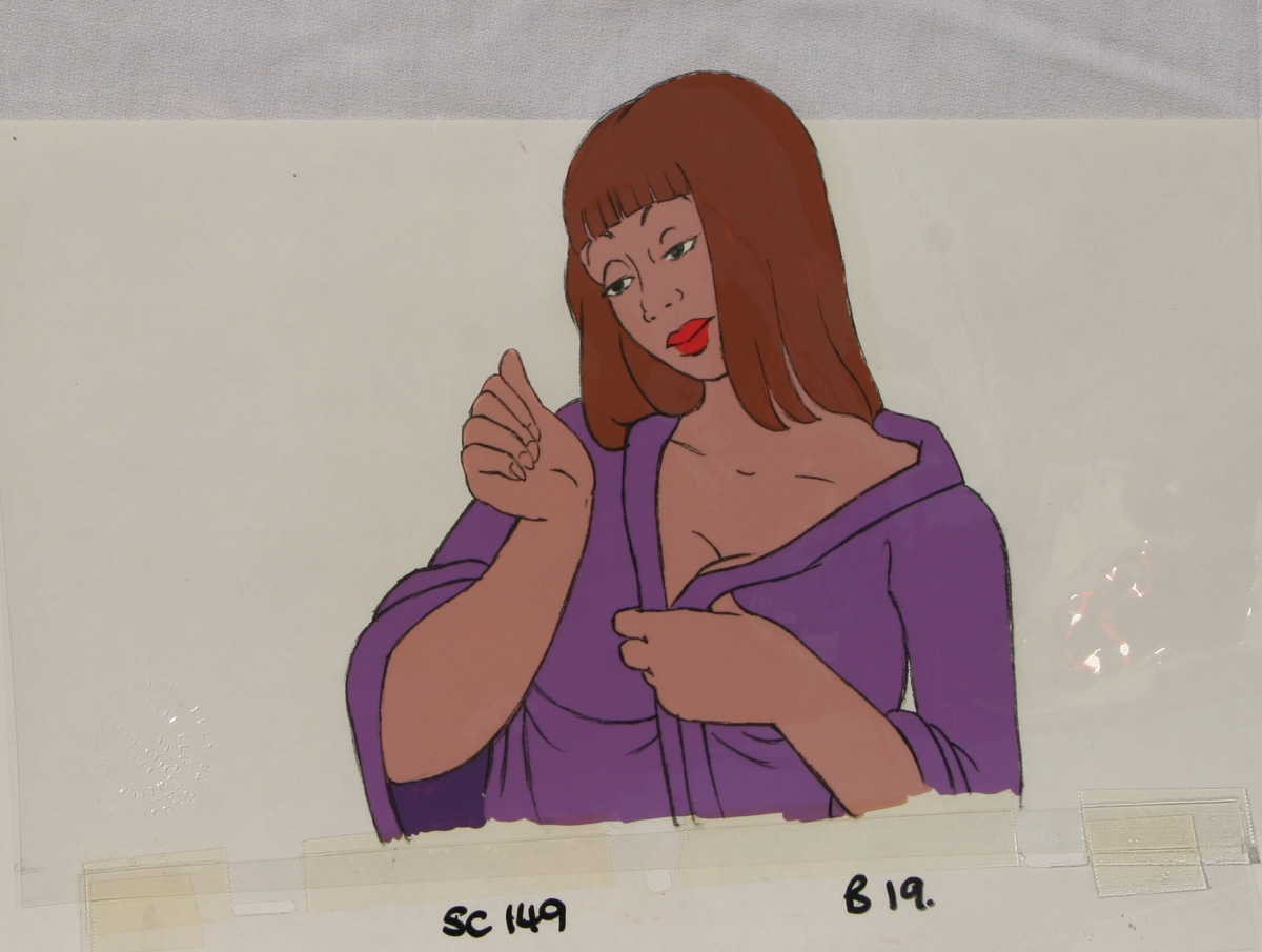 Heavy Metal Original Production Cel Stamped With Imprint Queen In Den 1981 In High Quality Comics S Published Work By A Variety Of Artists Original Art Comic Art Gallery Room