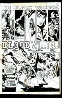 Black Widow Title splash Amazing Adventures #6 Comic Art