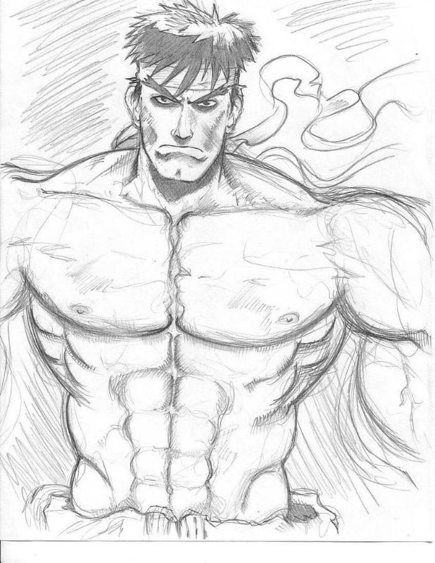 Ryu Street Fighter Sketch In Kim Thai S The Room Comic Art