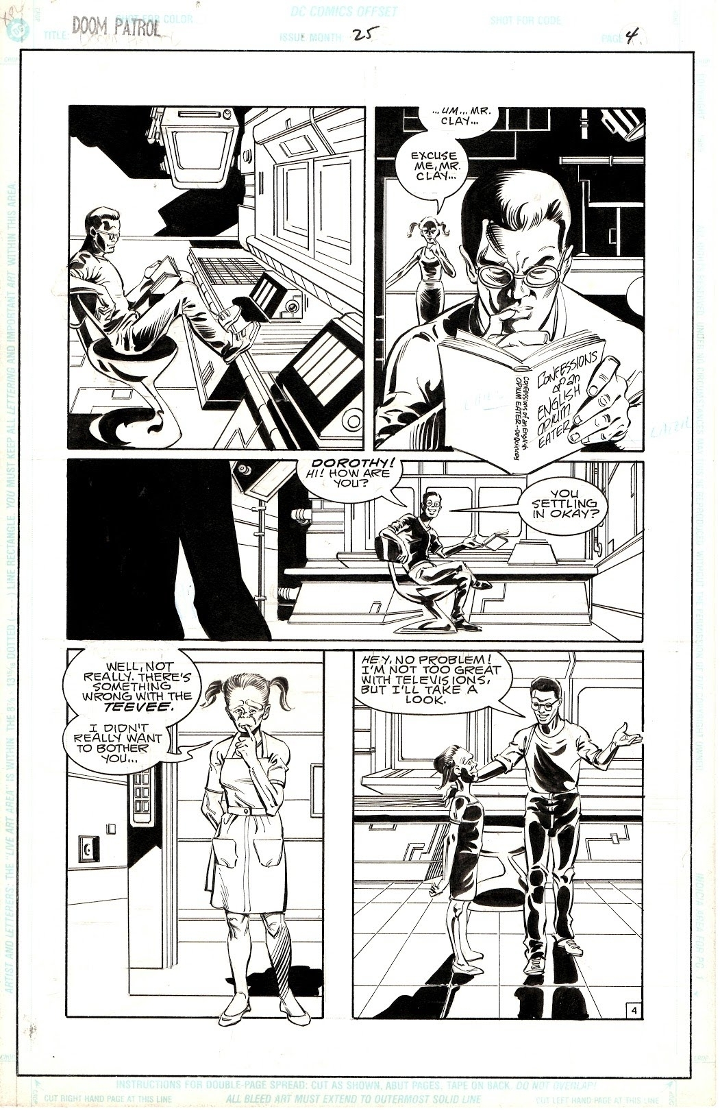 Doom Patrol Vol 2 Issue 25 Page 4 From Grant Morrison S Run