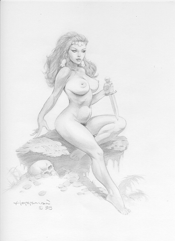 Black nude cave women Mike Hoffman Nude Cavewoman In Tom B S Hoffman Mike Comic Art Gallery Room