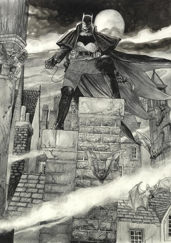 Batman Gotham By Gaslight In David Hitchcock S Latest Work Comic Art Gallery Room