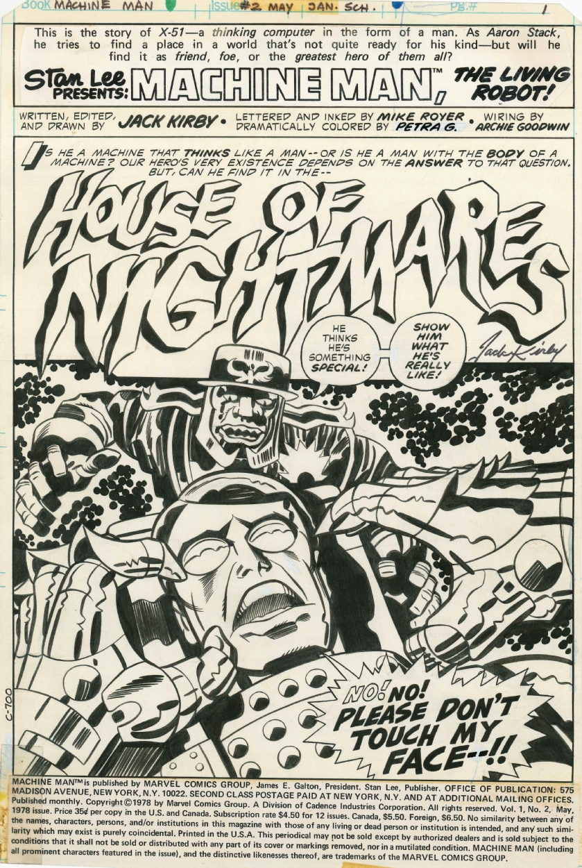 Machine Man Vol 1 2 Title Splash Jack Kirby In Matt W S Some Of My Favorites Comic Art Gallery Room