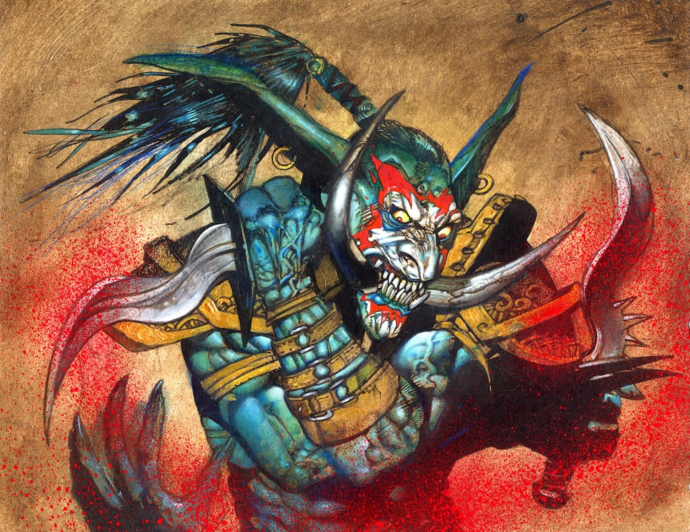 Simon Bisley Painting Warcraft 1 Trading Card Sold In Simon