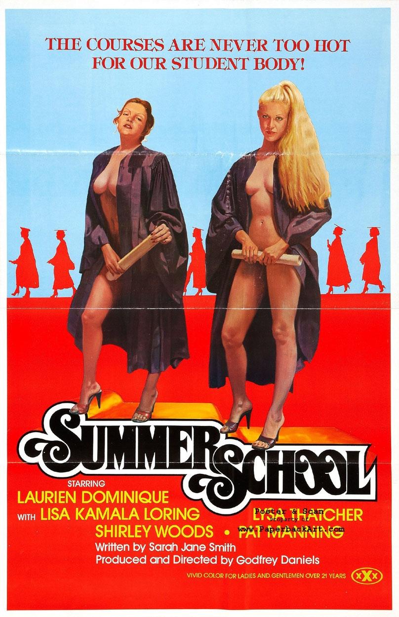 1979 Porn Movies summer school 1979 - vintage xxx porn movie poster art, in