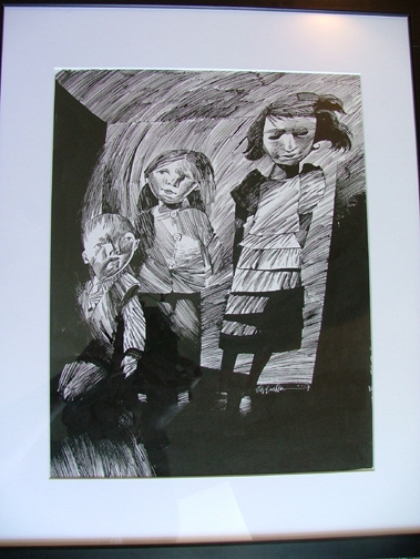 Coraline Ghost Children In Kevin King S Dave Mckean Comic Art Gallery Room