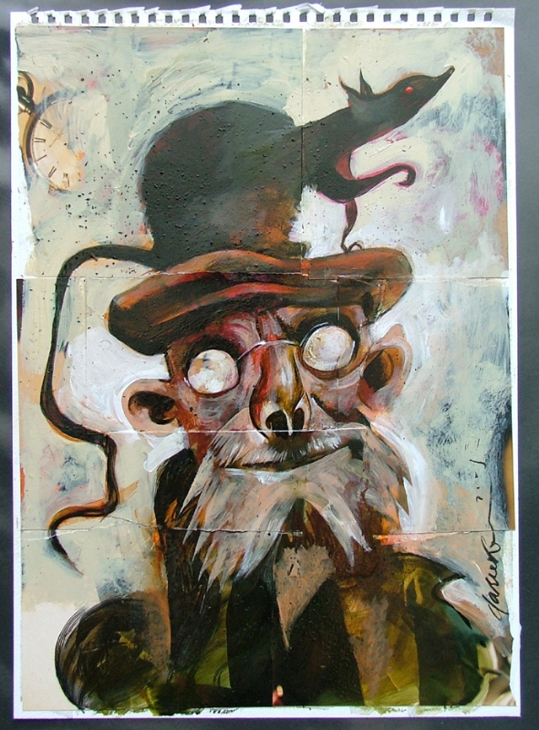 Mr Bobo Commission Coraline In Kevin King S Dave Mckean Comic Art Gallery Room