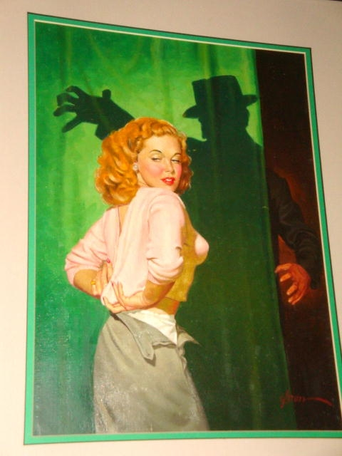 George Gross CRIME ON MY HANDS Pulp Digest Cover Art, in Johnny C.'s  Vintage Paperback Paintings Comic Art Gallery Room
