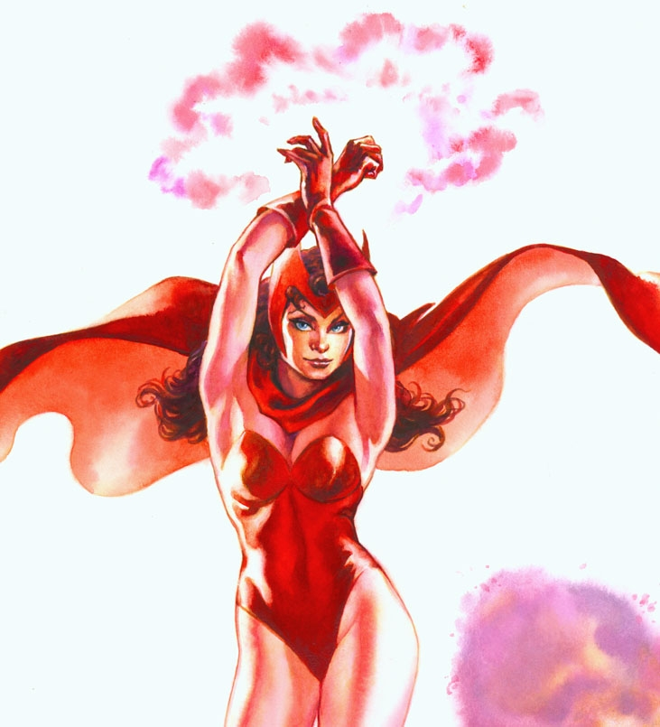 Scarlet Witch Very Sexy 11x17 Pinup Detail 2 By Ray Lago In