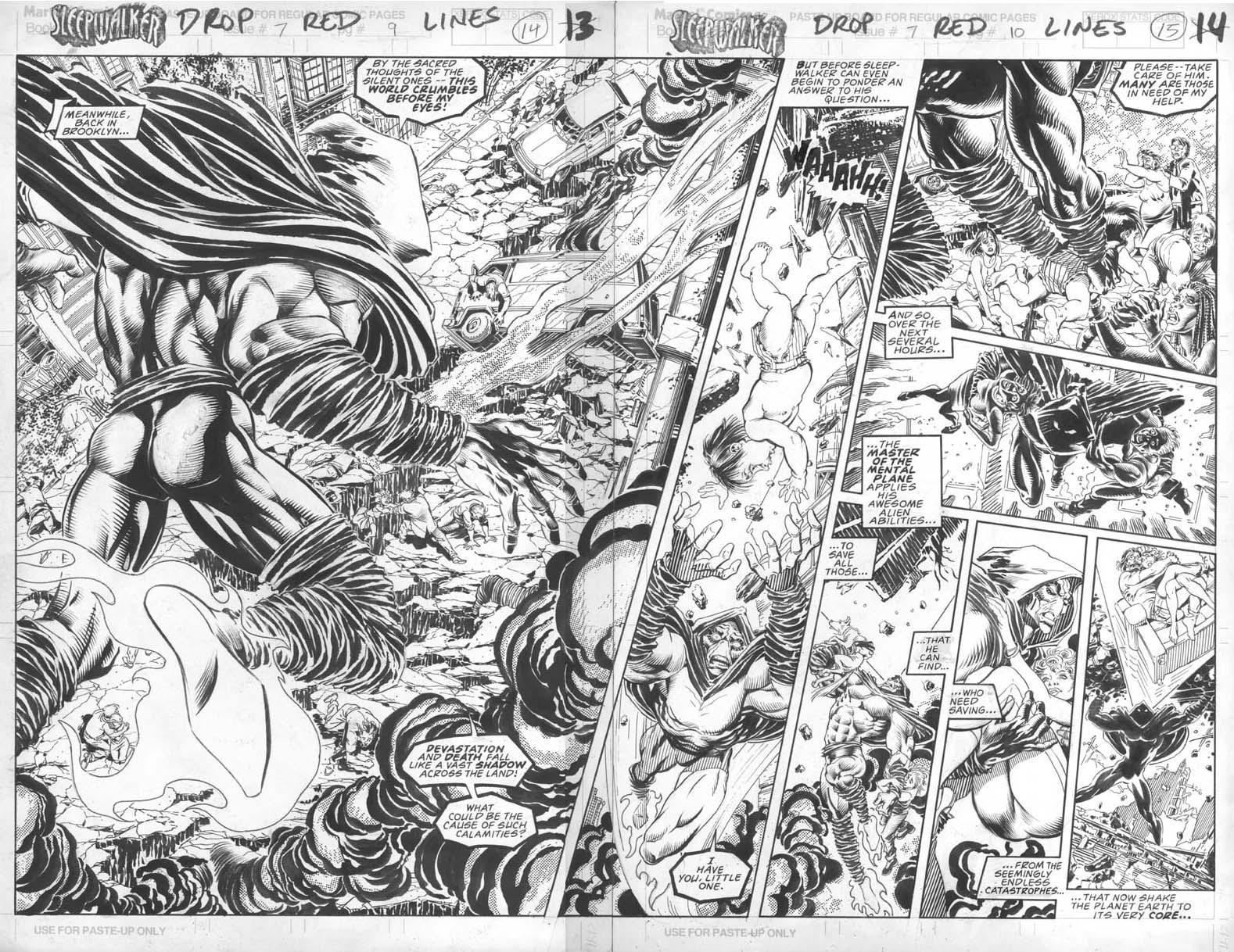 """Sleepwalker Promotional Poster 1991 Marvel NM Unused 14.5/"""" x 22/"""" Bret Blevins"""