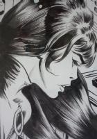 Black Widow detail Comic Art