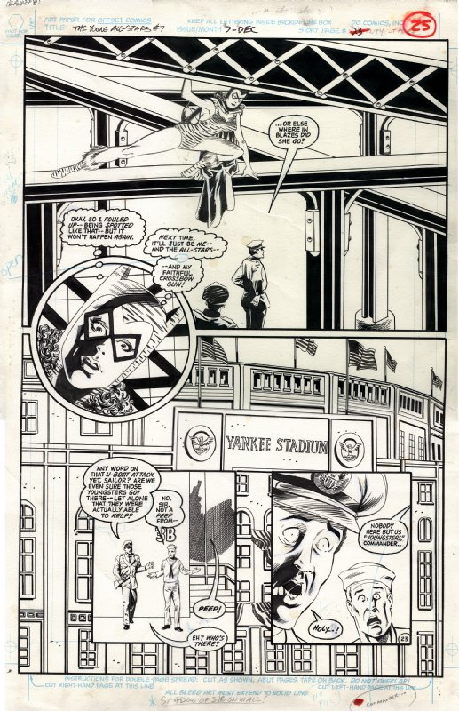 Young All-Stars #7 Page Comic Art