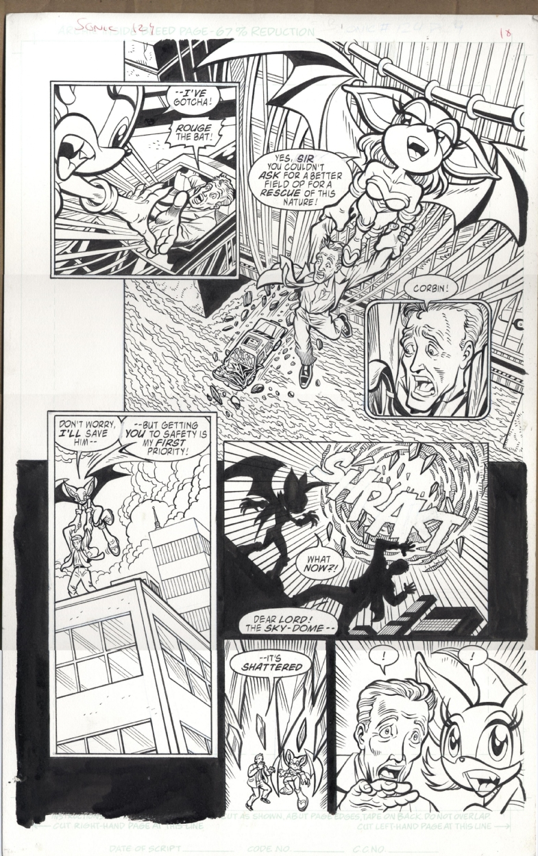 Sonic The Hedgehog 124 P 9 In Brian Durkee S Original Archie Sonic Artwork Comic Art Gallery Room
