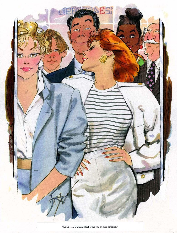 Over Achiever Playboy Cartoon By Doug Sneyd In Neil Leigh Mechem S Comic Art Comic Art Gallery Room