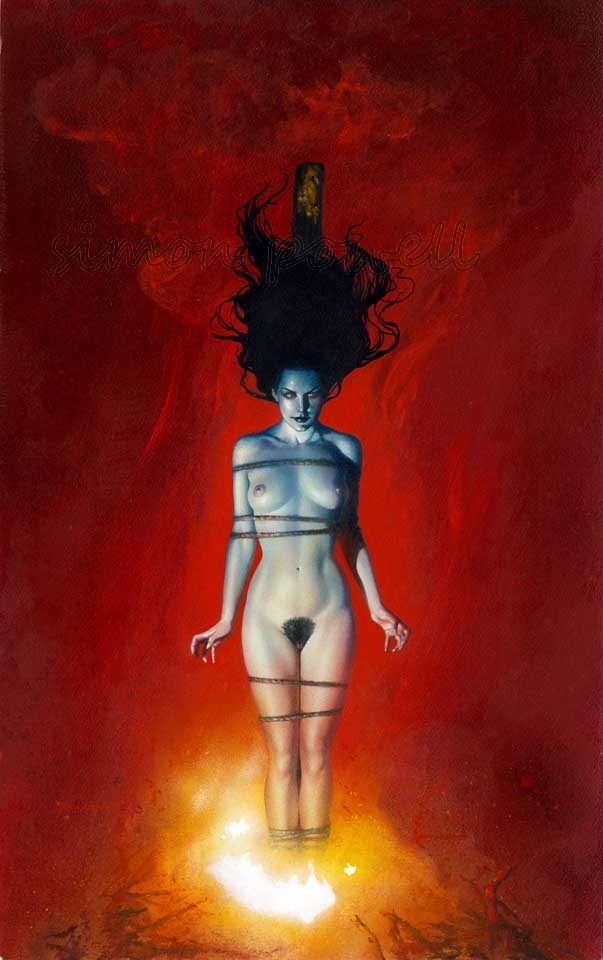 Burning Witch, in simon powell's Bolton, John - WARNING Nudity Comic Art  Gallery Room