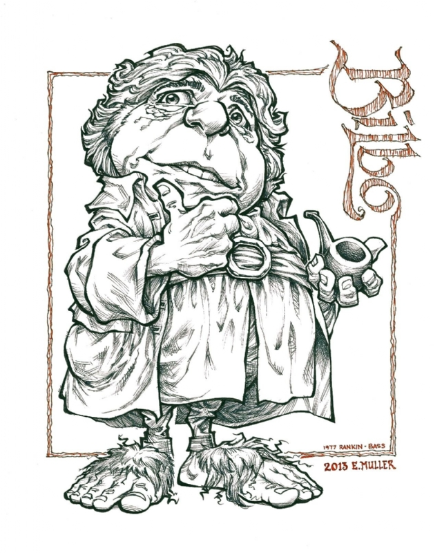 Bilbo Baggins Rankin And Bass Style In Eric Muller S Eric