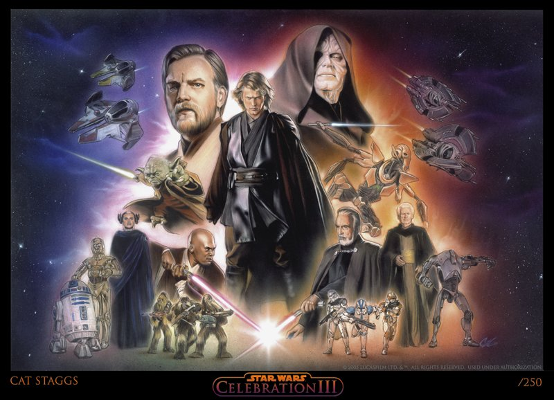 Star Wars Revenge Of The Sith In Cat Staggs S Star Wars Art Comic Art Gallery Room