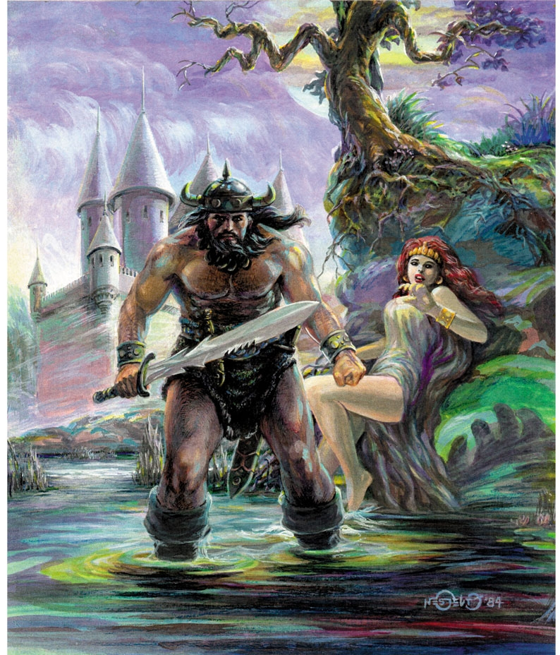 The Viking Warrior In Nes Gelito S Nes Colored Pieces Comic Art Gallery Room