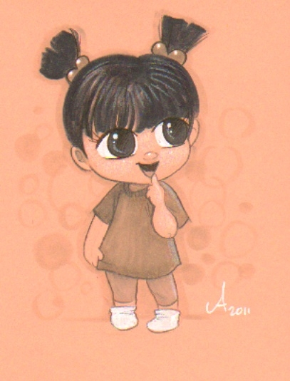 Amy Mebberson Boo Monsters Inc Seattle 2011 In Steven Ng S Pixar Characters Comic Art Gallery Room