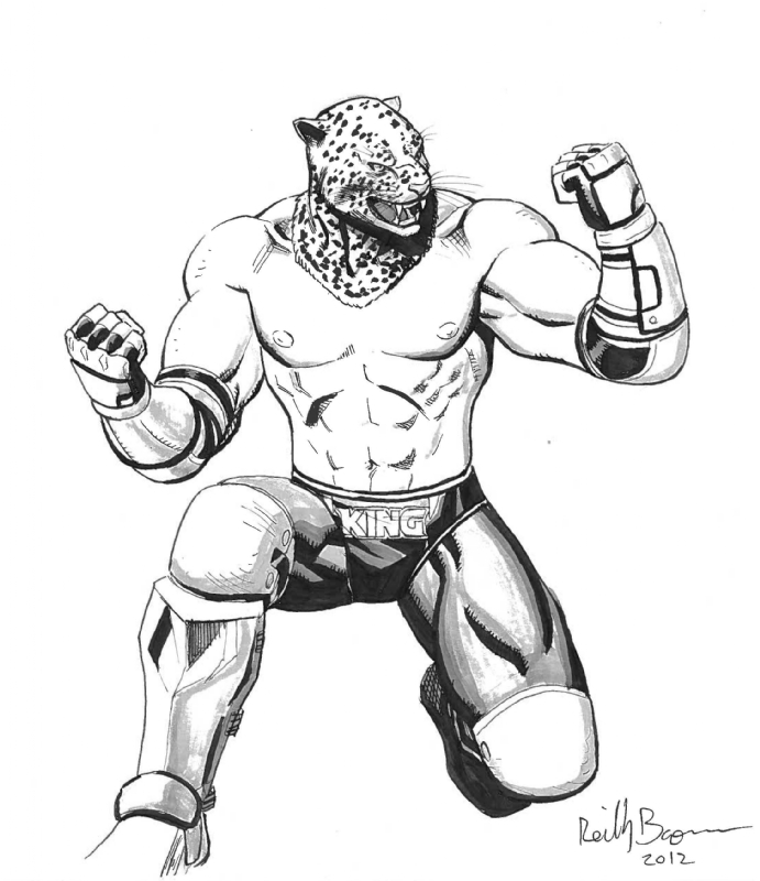 King Tekken By Reilly Brown In Glenn Carrere S C2e2 Collection Comic Art Gallery Room