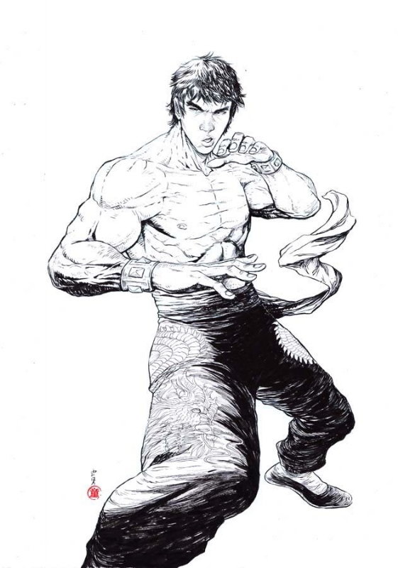 Marshall Law Tekken Cover F Connecting Variant Sale In Inkink Collectibles S Tekken Comic Art Gallery Room