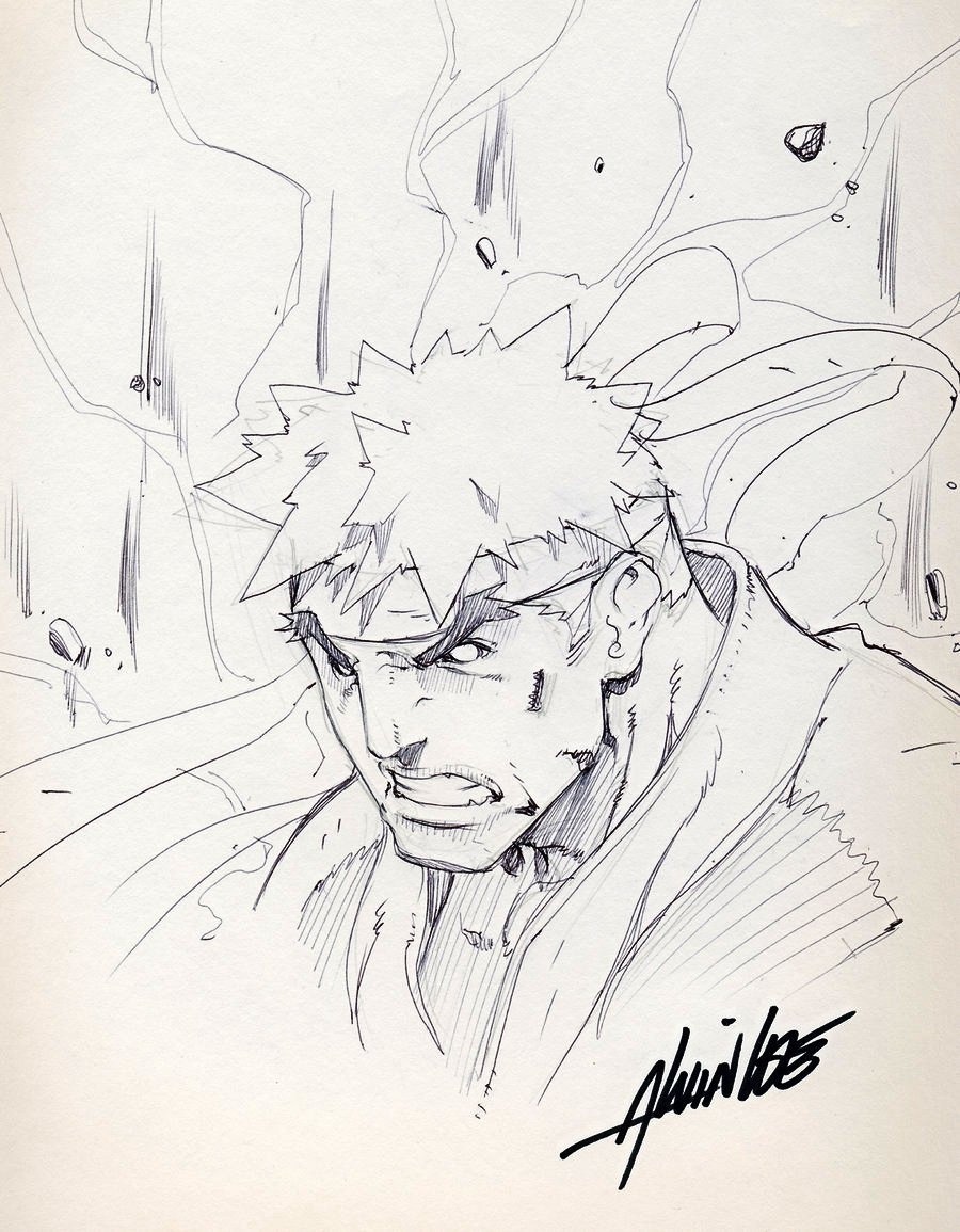 Evil Ryu Head Sketch In Shawn W S Udon Crew Street Fighter