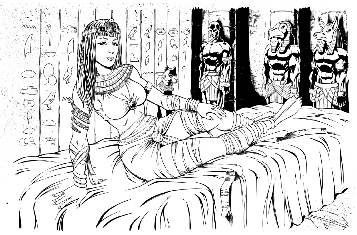Mummy Pin-up, in Sean Forney's My work for sale Comic Art Gallery Room