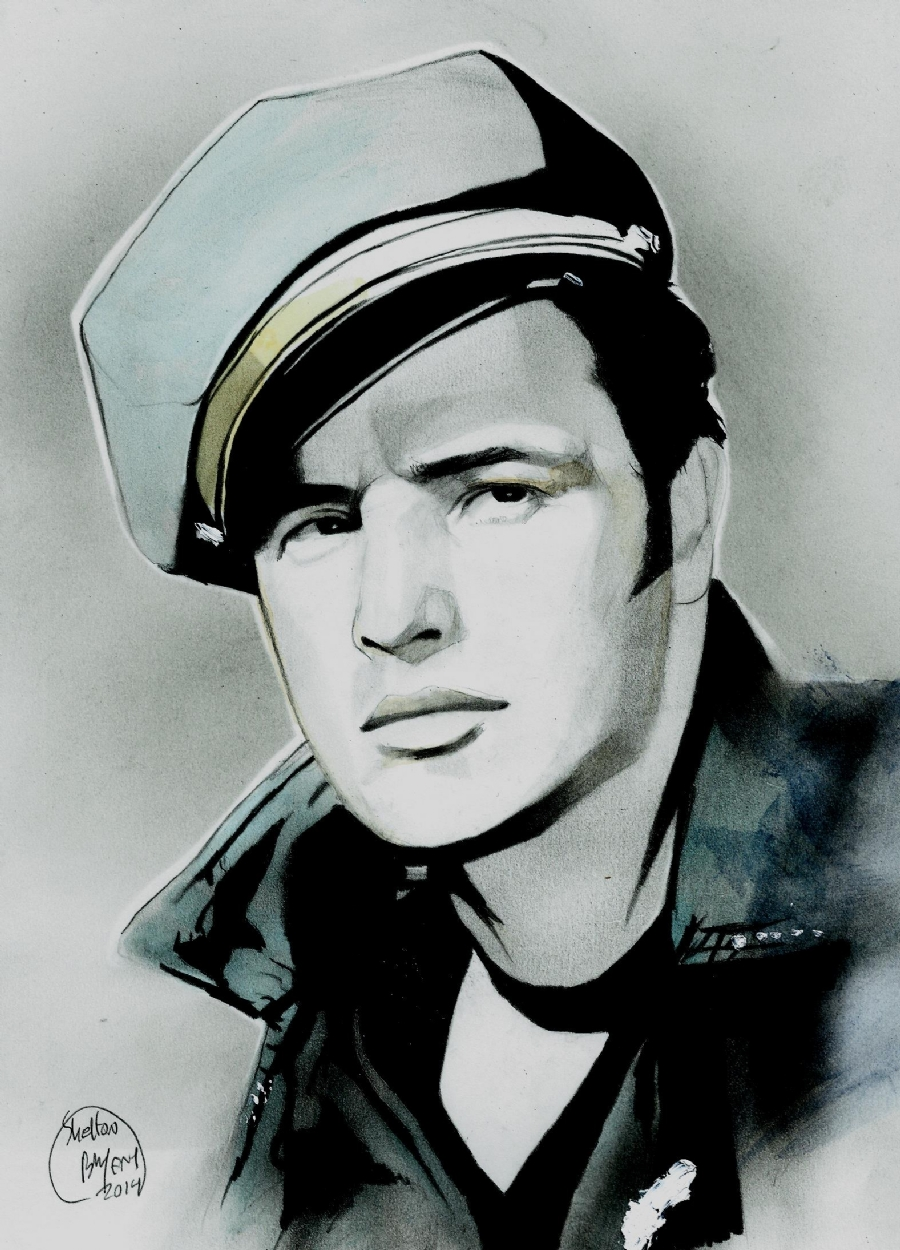 The wild one portrait painitng