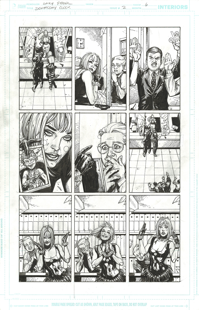 Doomsday Clock 2 Page 6 Gary Frank In Cartoon Fanboy S Gary