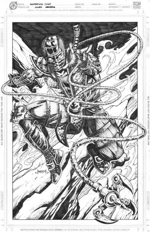 Scorpion Of Mortal Kombat In Julius Abrera S Works And