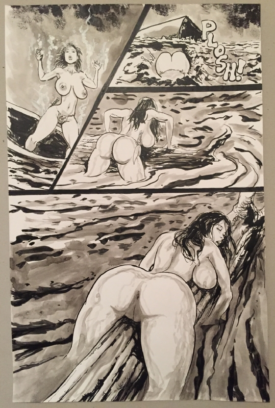 Black nude cave women Nude Cavewoman Lost 1 Page 6 By Devon Massey In Red Raven S Collectionneur Comic Art Gallery Room