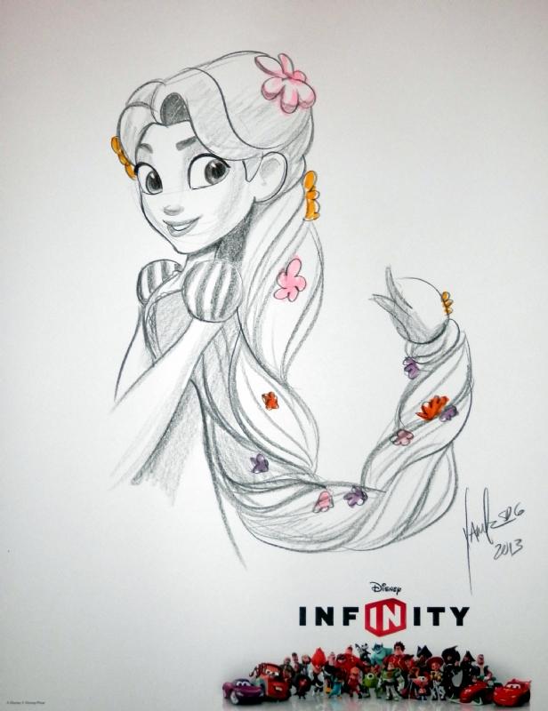 Rapunzel From Tangled Sketch By Disney Artist Joe Yakovetic In N Sniper S Disney Comic Art Gallery Room