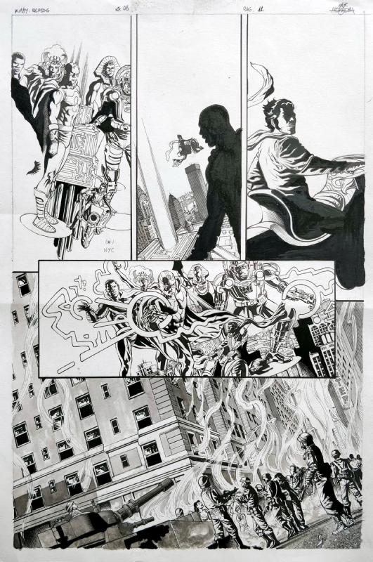 Kirby Genesis 8 Page 11 By Jack Herbert And Alex Ross In Daniel B S Original Pages Comic Art Gallery Room