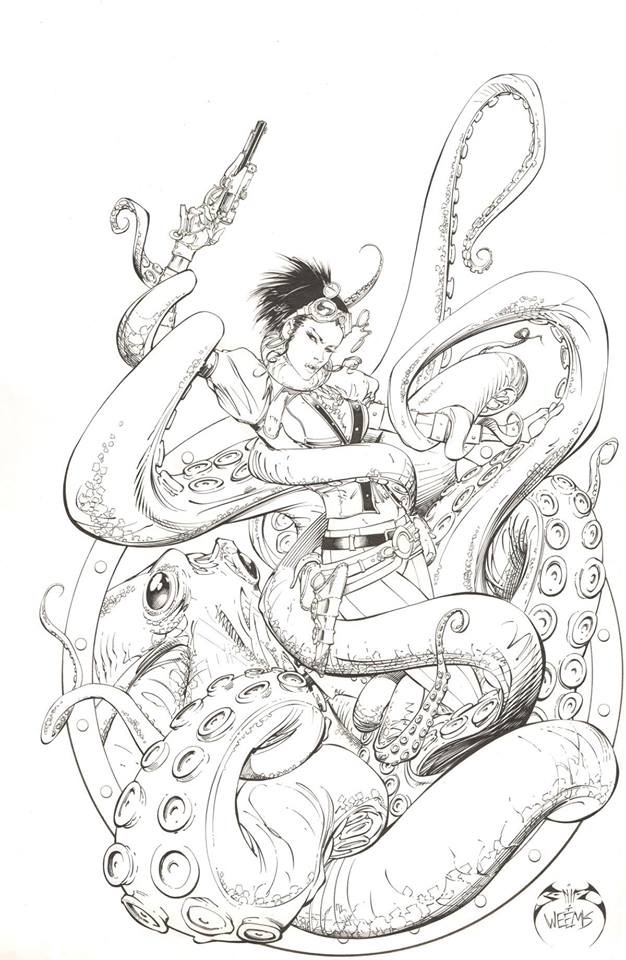 - Joe Benitez Joe Weems Lady Mechanika Comickaze Coloring Book Pinup For  Sale, In Tatiana TDArt Dykes's TDArt - Joe Weems V Art FOR SALE Comic Art  Gallery Room
