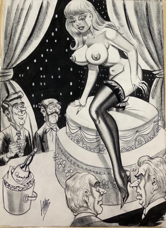 Bill Ward Nude, in Pat Robinson's Pat Robinson Art Collection Comic Art  Gallery Room