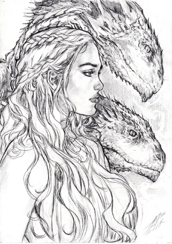 Daenerys Targaryen Game Of Thrones By Carlos Silva In Alan Hamilton S Daenerys Targaryen And The Game Of Thrones Comic Art Gallery Room