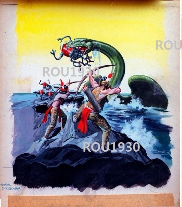 Gold Key Turok Son Of Stone 58 Original Cover Art In Carlos Castanos S My Original Turok Son Of Stone Comic Art Gallery Comic Art Gallery Room